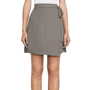 BCBG MINI AVIVA WRAP SKIRT SPANISH MOSS SIZE S